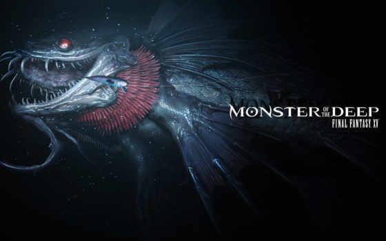 fantasy, final, xv, deep, monster, playstation, game,