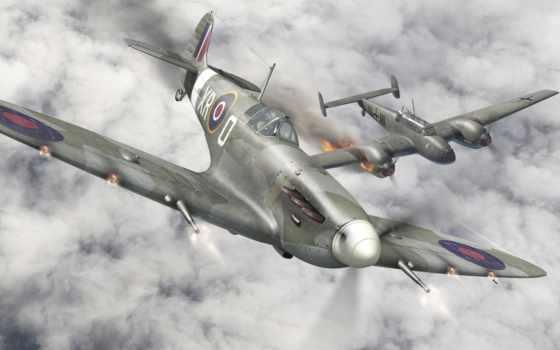 самолёт, военный, war, world, spitfire,