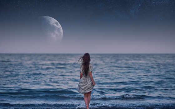девушка, море, распознать, уж, луна, currently, browser, available, formatı