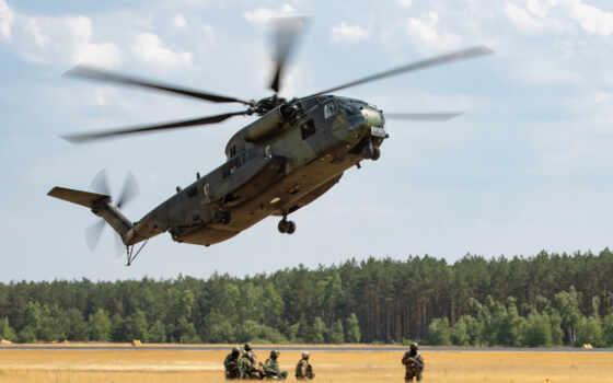 военный, chỉ, sikorsky, stallion, вертолет, море, bundeswehr, самолёт, die, brandenburg, супер