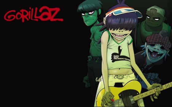 gorillaz, гитара