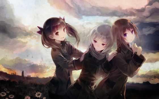 sora, woto, anime