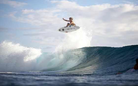 спорт, волна, сёрфинг