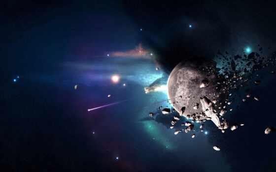 космос, planet, shirokoformatnyi, splinter, universe, free, land, красивый, катастрофа, фото