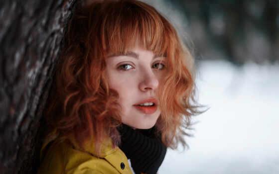 ульяна, red, волосы, naidenkov, девушка, ulyana, модель, see, молодой, взгляд