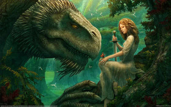 princess, dragon, hombres