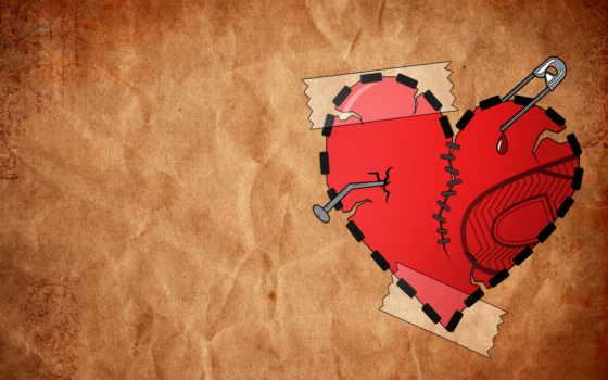 сердце, разбитое, blue