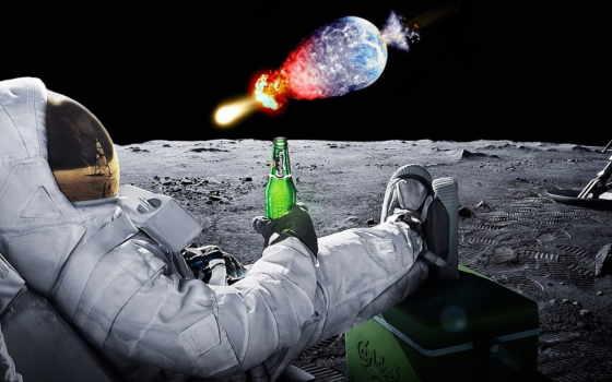 луна, широкоформатные, пиво