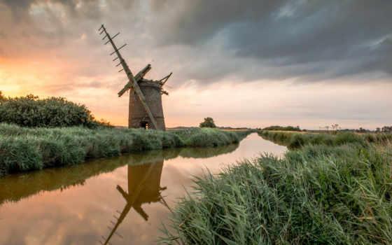 mill, norfolk, brograve, ebay, англия, ветряк, flickr, postcard, bebington,