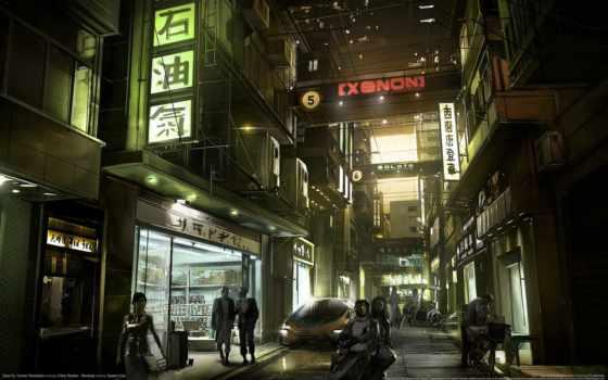 deus, revolution, human, hong, kong, город, cyberpunk, pinterest,