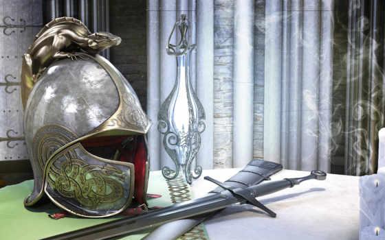 шлем, мечь