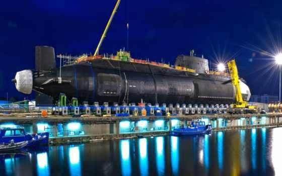 подводная, лодка, атомная, машины,