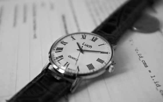 часы, чёрно, белое