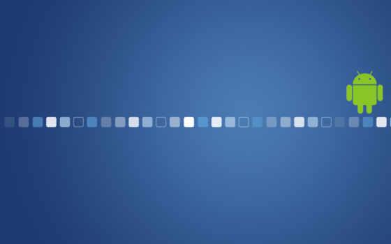 андроид - квадраты на синем фоне