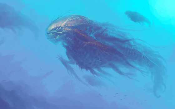 monster, море, фантастика, гигант,