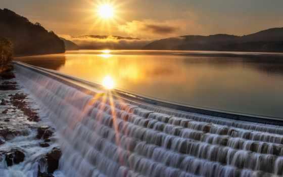 закат, озеро, landscape Фон № 57143 разрешение 1920x1080