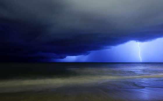 буря, lightning, высоком