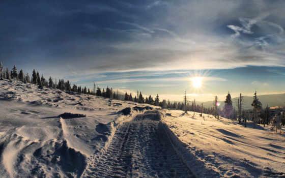 winter, дорога, снег Фон № 101251 разрешение 1920x1080