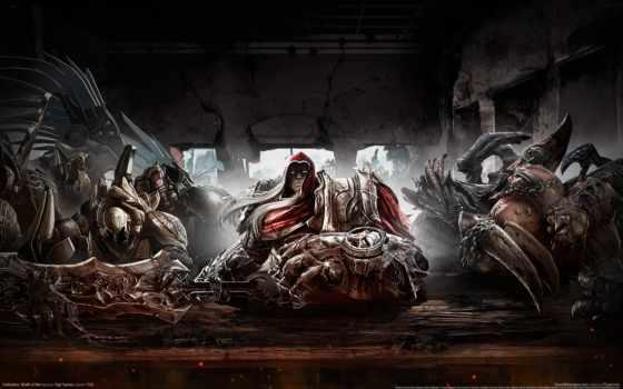 darksiders, меч, war, всадник, лошадь,
