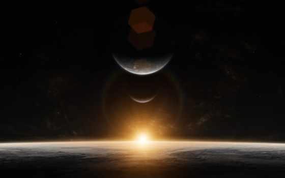 восход, космос,