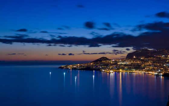 изображение, город, ночь, красивые, города, огни, море, разных, ночные,