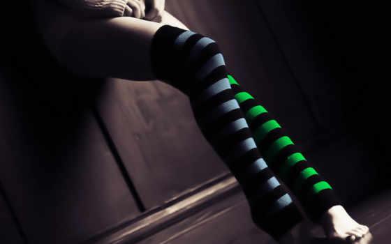 ножки, чулках, stockings, полосатых, девушка, devushki, panties,