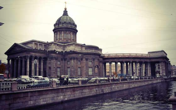 казань, cathedral, петербург, река, перспектива, nevsky, quay,