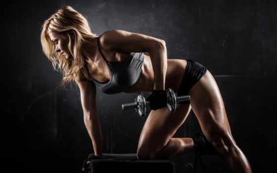тренировочный, hall, программа, gym, девушка, mass