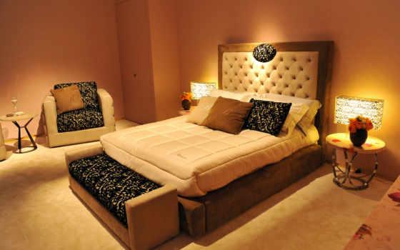 интерьер, дизайна, кровать