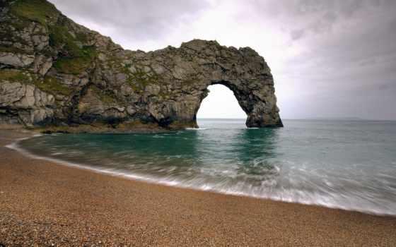 durdle, дверь, bay, rock, красивые, природа, места, нашей, арка,