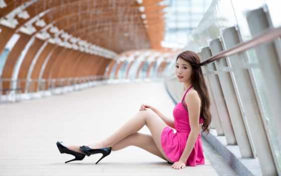 asian, девушка, платье, summer, desktop, июл, free,