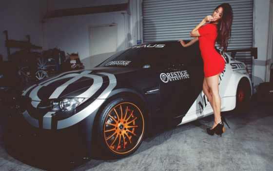 девушка, платье, машина, elizabeth, bmw, машины, arley, devushki, красном,