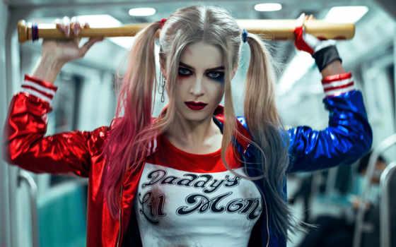 харли, квинн, halloween, самоубийц, масть, squad, макияж, изображение, самых, году,