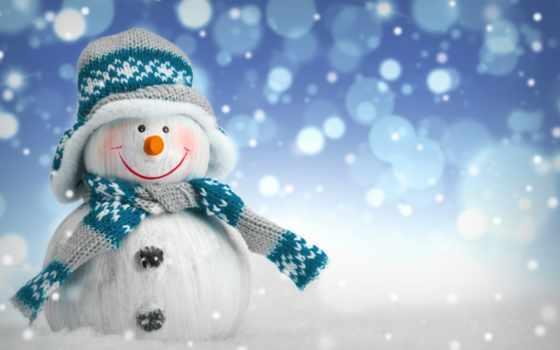 снеговик, шапка, шарф, новый год