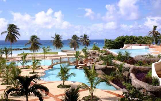 resort, tropic, море, landscape, tropical, красивый, trees