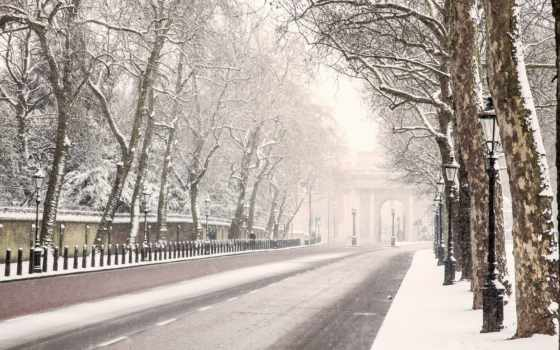 london, winter, дорога