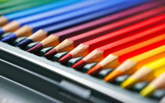 карандаши, цветные, makro, разных,