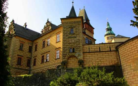 замки, города, чехия