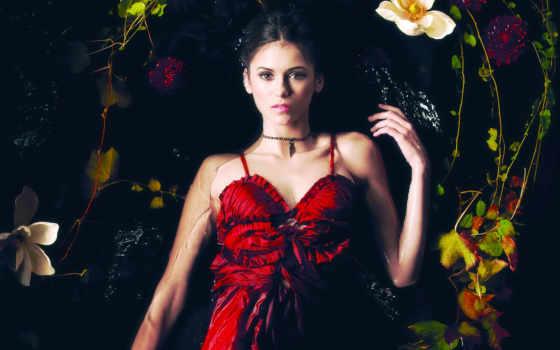 платье, красном, женщина Фон № 69393 разрешение 1920x1200