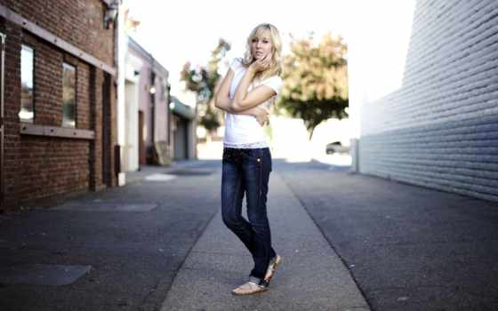 джинсы, девушка, blonde