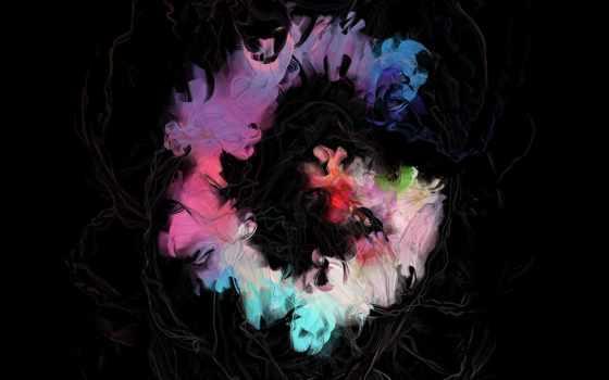fondo, color, manchas, pantalla, negro, разводы, текстура, para, abstract, colores,