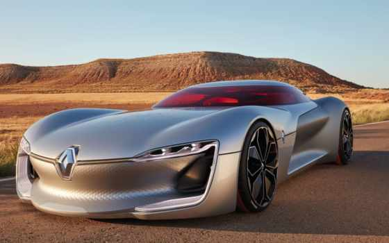 renault, trezor, concept, electric, car, париж,