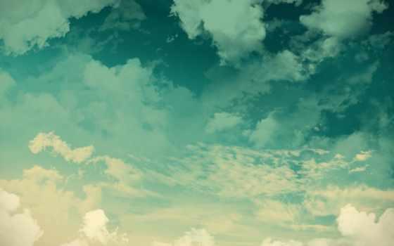 небо, пейзажи -, oblaka, природа, овцы, трава, landscape,