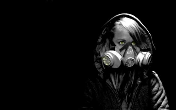 маска, девушка, противогазе, свет, preview, просмотры, тона, попа, диско,