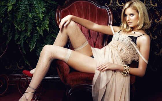 девушка, чулок, leg, грэйс, blonde, maggie, megch, актриса, grace, платье, armchair
