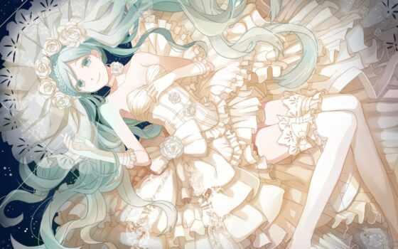anime, без, платье