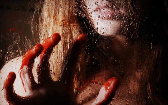 кровь, девушка, glass
