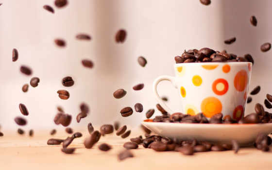 coffee, cup, зерна, утро, макро, кофейнве, утра,