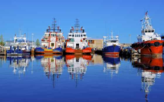 австралия, fremantle, hdri, корабли, порт, ships, pier, изображение,