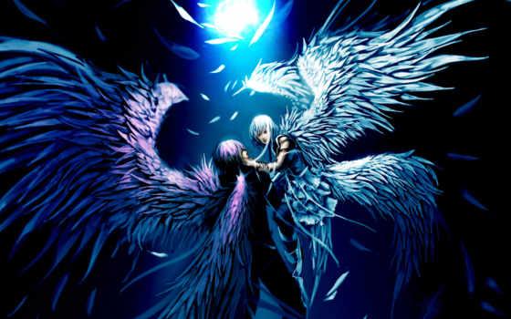 anime, ангелы, love, angel, крылья, мужчина,